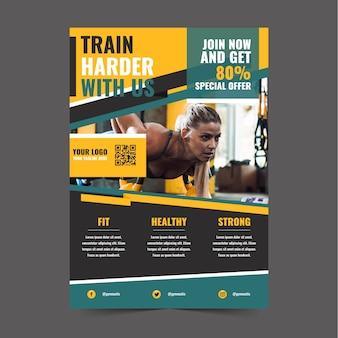 Treinamento de estilo de cartaz de esporte