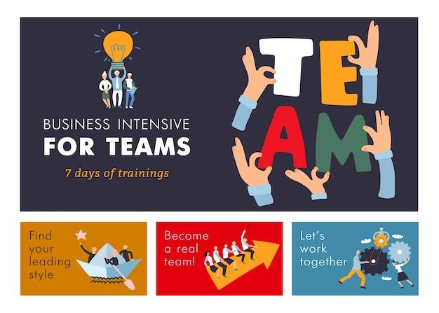 Treinamento de gestão de cooperação de trabalho em equipe para eficiência empresarial