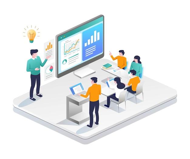Treinamento de investimento empresarial com tutor