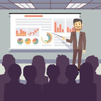 Treinamento de negócios público, conferência, apresentação de seminário