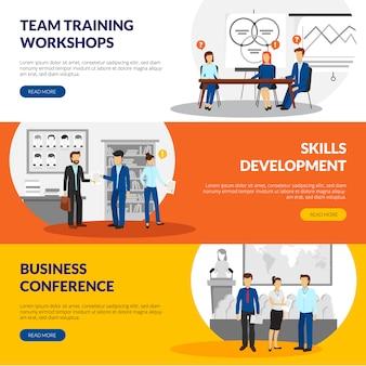 Treinamento empresarial que consulta informação de seminários de desenvolvimento de habilidade