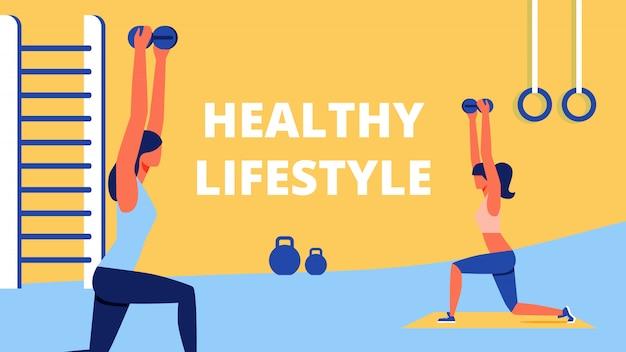 Treinamento esportivo para mulheres healty lifestyle