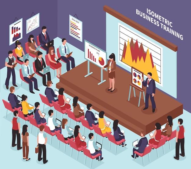 Treinamento isométrico de negócios