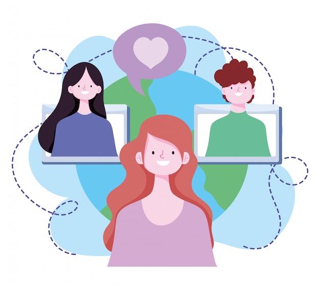 Treinamento on-line, site para alunos conectados por professores, desenvolvimento de conhecimento de cursos usando a internet