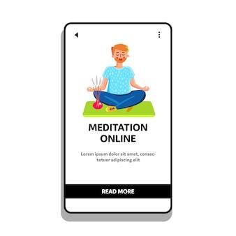 Treinamento online de meditação com instrutor