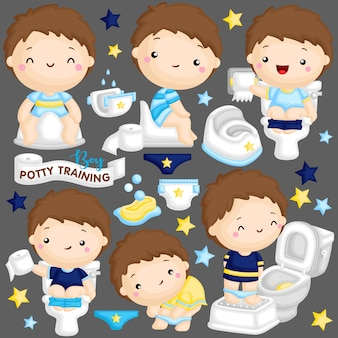 Treinamento potty boy