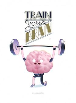 Treine seu poster do cérebro com letras