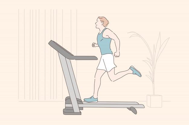Treino de esportes, treinamento de resistência, conceito de exercício físico