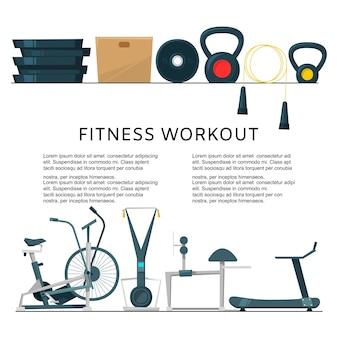 Treino de fitness no centro do clube