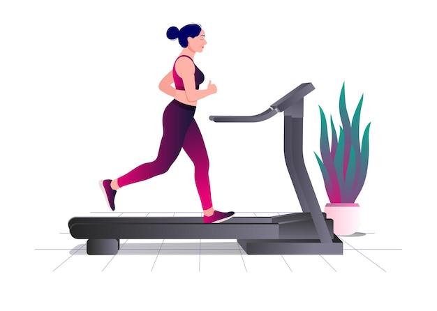 Treino em esteira, fitness aeróbico e exercícios