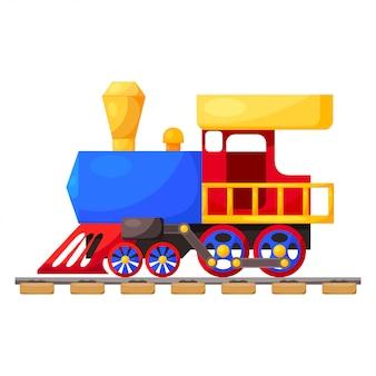 Trem azul vermelho