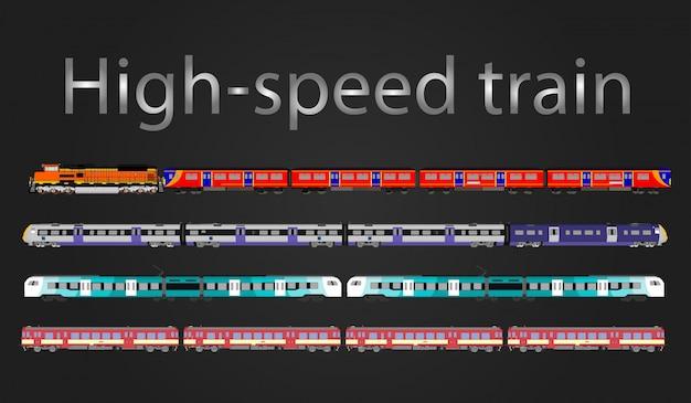 Trem de alta velocidade de vetor e trem a vapor