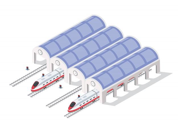 Trem de alta velocidade moderno rápido