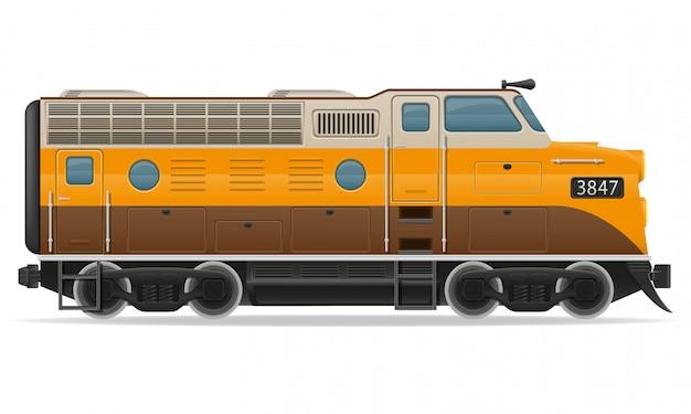 Trem de locomotiva ferroviária.
