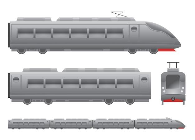 Trem de passageiros cinza