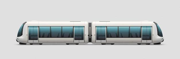 Trem elétrico moderno realista