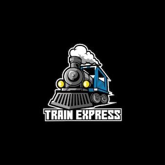 Trem expresso de transporte ferroviário de locomotiva de maneira rápida