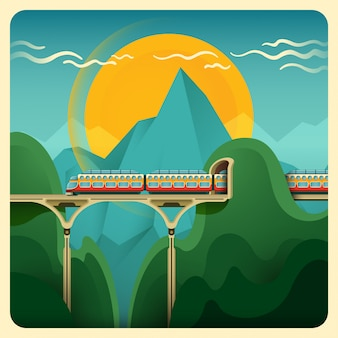 Trem, ilustração
