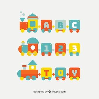 Trens de brinquedo com números