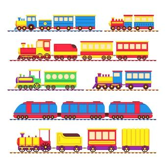 Trens de brinquedo de crianças dos desenhos animados
