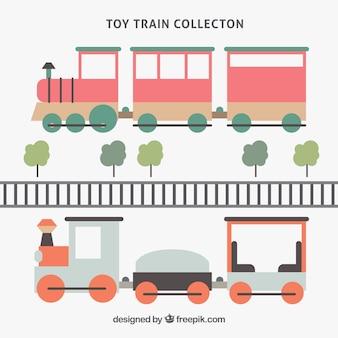 Trens e árvores em projeto plano