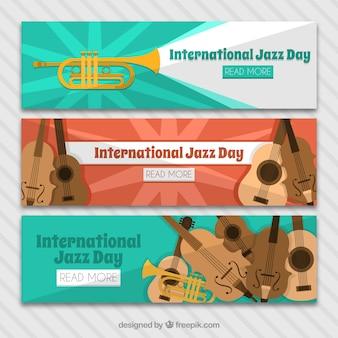 Três bandeiras jogo do dia internacional de jazz