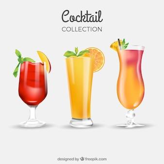 Três bebidas de verão