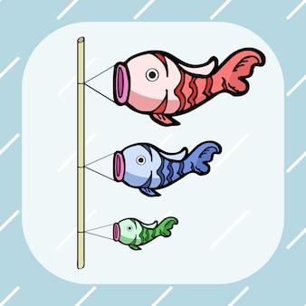 Três cores do japão koi peixe