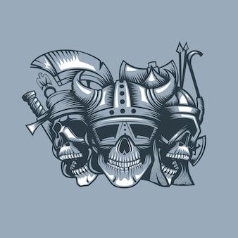 Três crânios