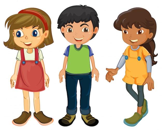 Três crianças