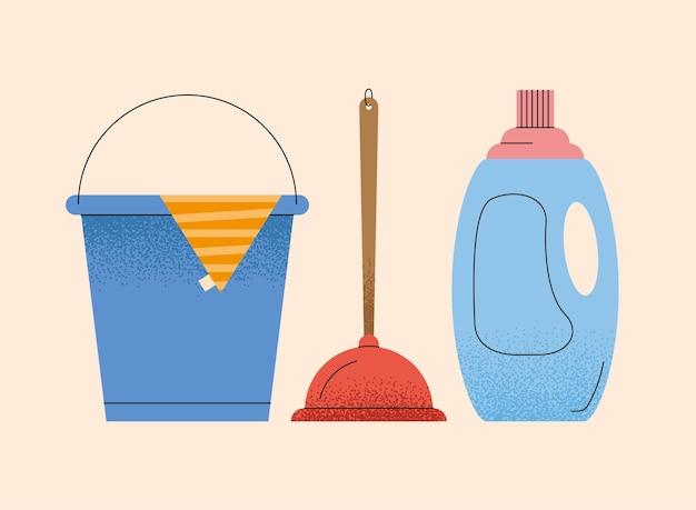 Três ferramentas domésticas