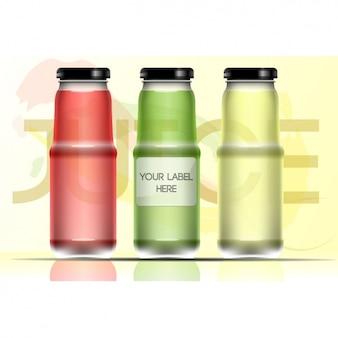 Três frascos de vidro