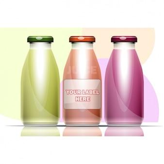 Três garrafas