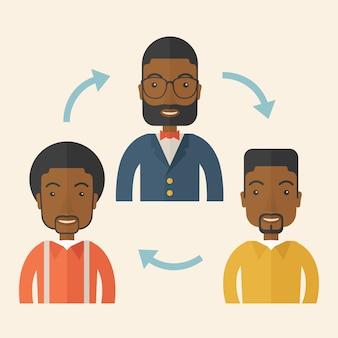 Três jovens cavalheiros africanos.