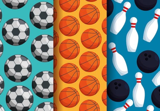 Três padrões de esportes