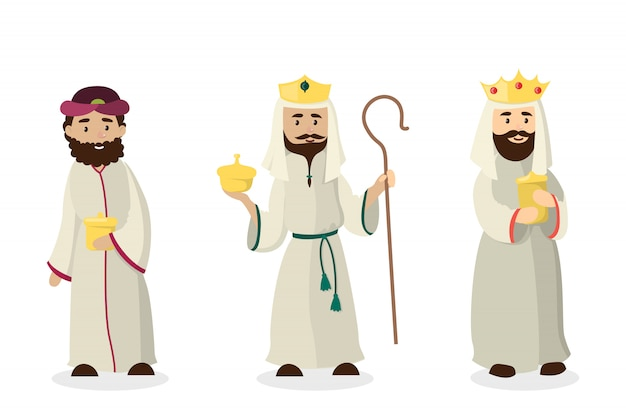 Três reis magos. aniversário de jesus cristo andistmas véspera.