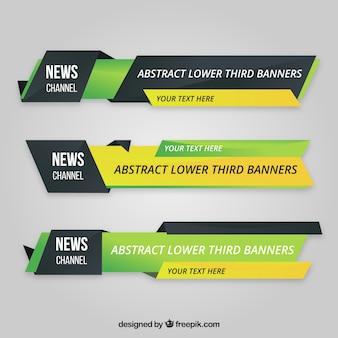 Três terços mais baixos com design realista
