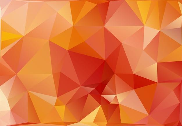 Triângulo abstrato base poligonal em vetor