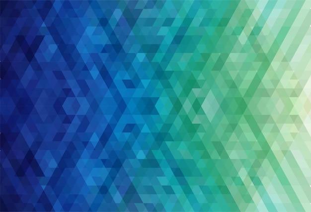 Triângulo abstrato de fundo colorido