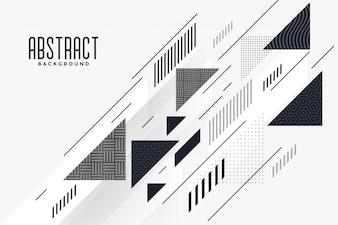 Triângulo abstrato moderno e linhas de composição de fundo