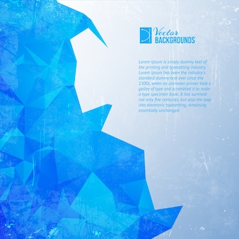 Triângulo azul.