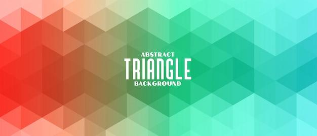 Triângulo colorido banner padrão abstrato
