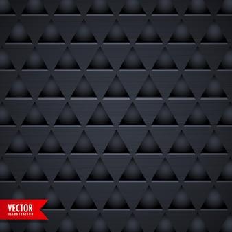 Triângulo escuro textura padrão vetor fundo