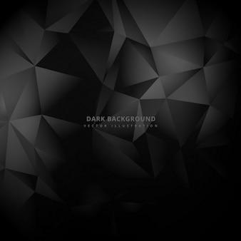 Triângulo low poly fundo escuro