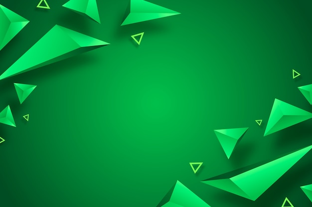 Triângulo verde fundo 3d design