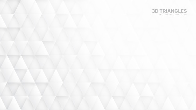 Triângulos 3d abstrato branco