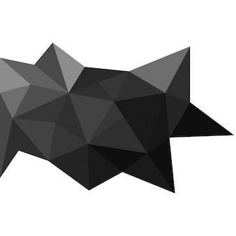 Triângulos 3d fundo abstrato, conceito de baixo teor de poliéster. Vetor grátis