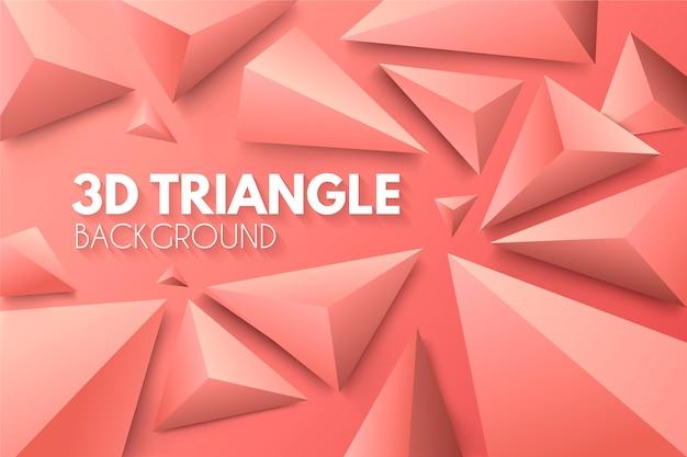 Triângulos 3d no conceito de cores vivas para papel de parede