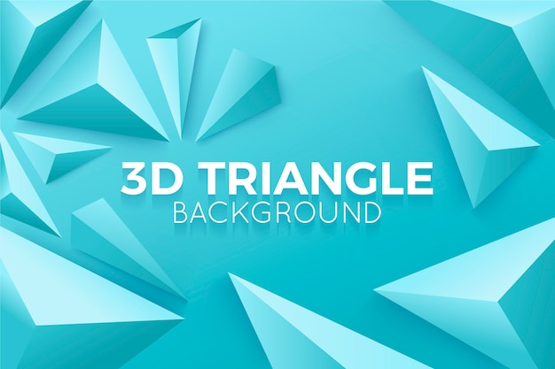 Triângulos 3d no conceito de cores vivas para plano de fundo
