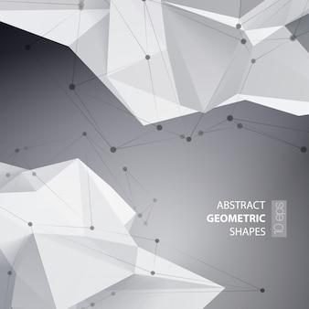 Triângulos abstratos espaço baixo poli.